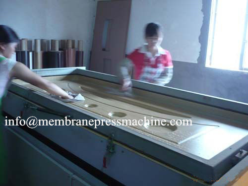 pvc door making vacuum membrane press machine