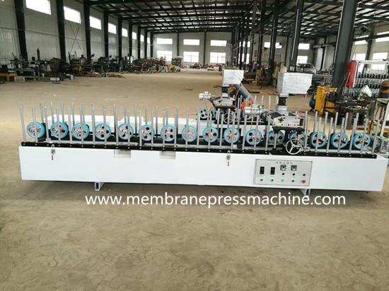 mdf quarter round wrapping lamiante machine